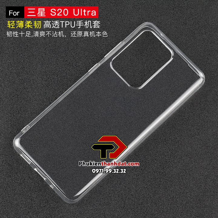 Ốp lưng silicone dẻo trong suốt SamSung Galaxy S20 Ultra