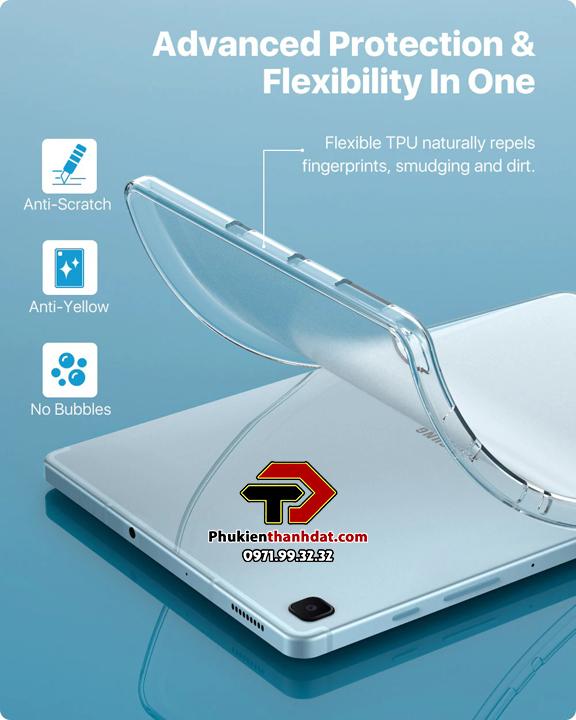 Ốp lưng silicon dẻo trong suốtSamsung Galaxy Tab S6 Lite SM-P615.
