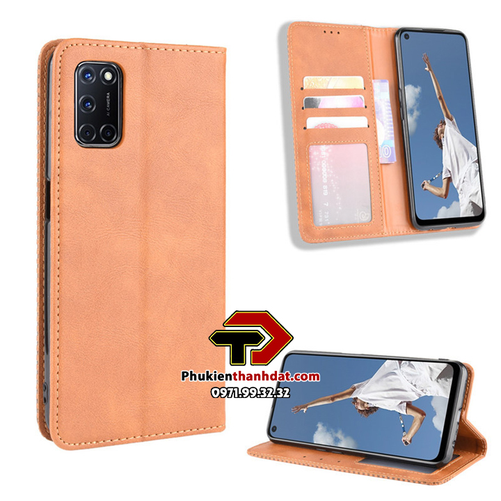 Bao da dạng ví OPPO A52 Wallet Leather Case