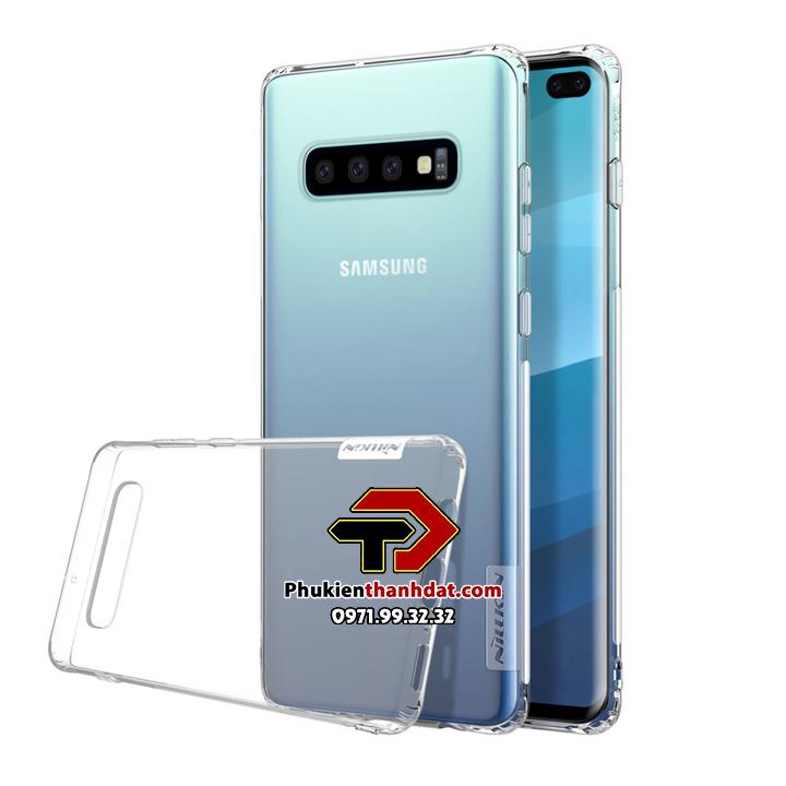 Ốp lưng dẻo trong suốt SamSung Galaxy S10 Plus chính hãng Nillkin Nature