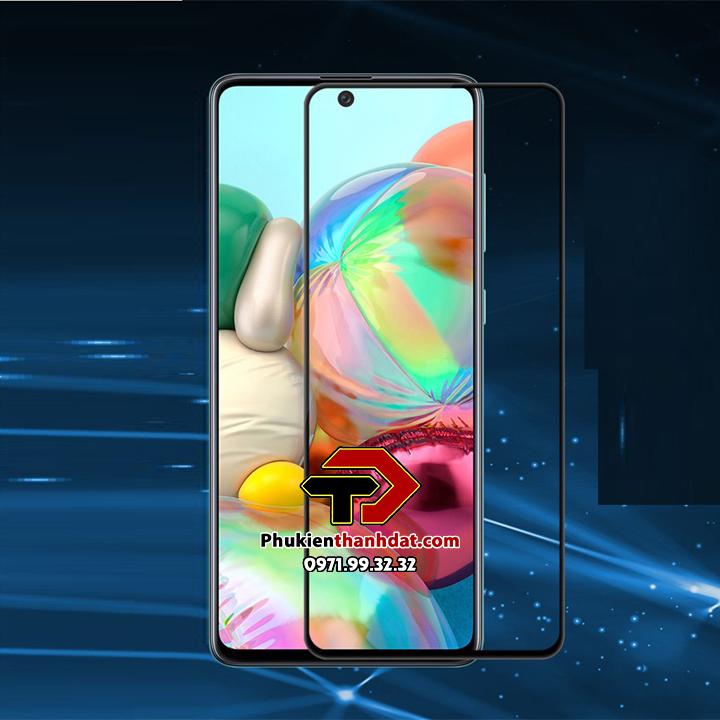 Tấm dán kính cường lực full 9D SamSung Galaxy A52 tràn màn hình