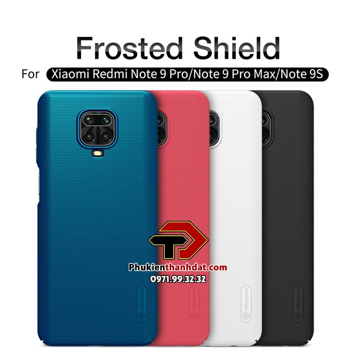 Ốp lưng Xiaomi Redmi Note 9 Pro chính hãng Nillkin dạng sần