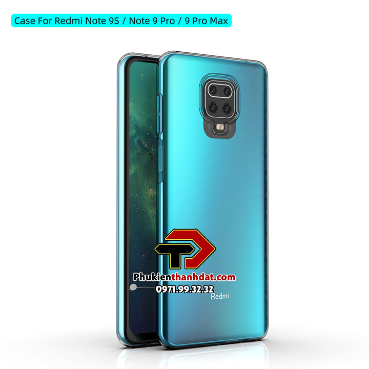 Ốp lưng silicone dẻo trong suốt Xiaomi Redmi Note 9s