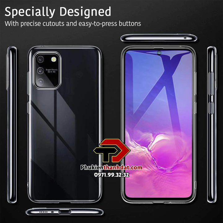 Ốp lưng silicone dẻo trong suốt SamSung Galaxy S10 Lite