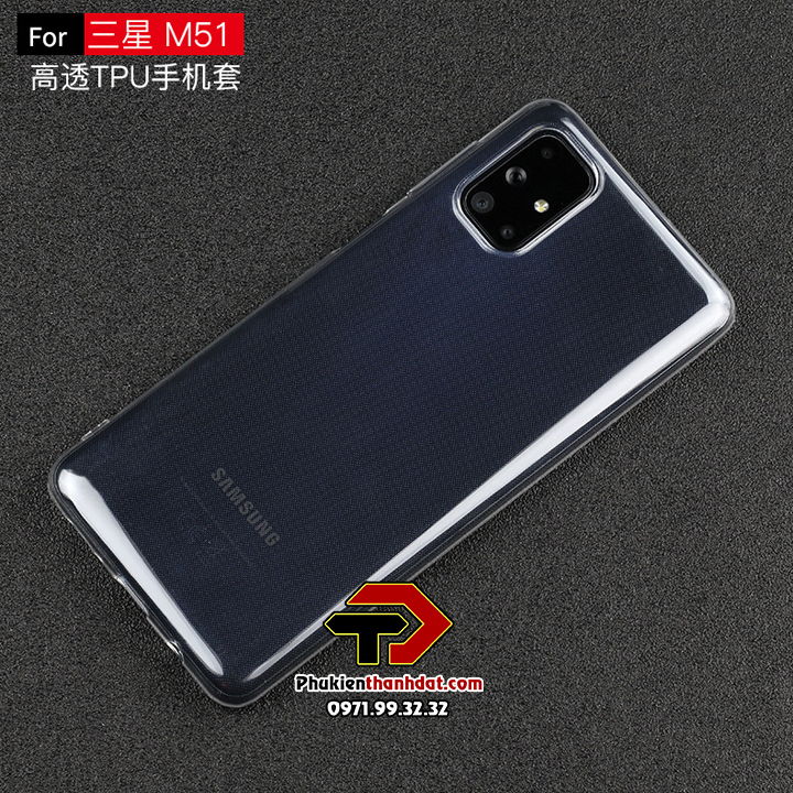 Ốp lưng silicone dẻo trong suốt SamSung Galaxy M51