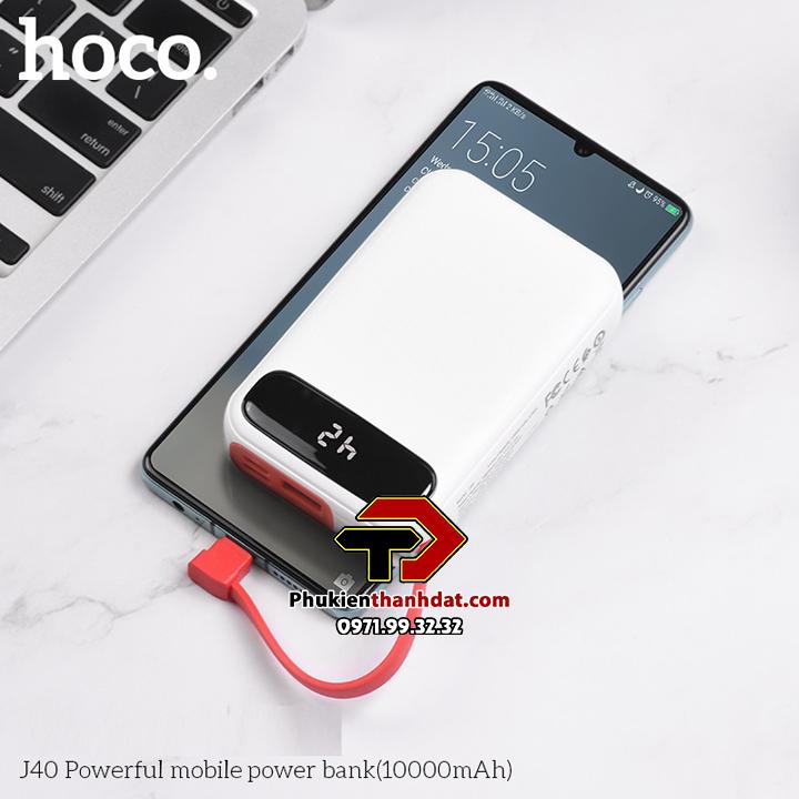 Pin sạc dự phòng kèm dây sạc Hoco J40 10000mAh