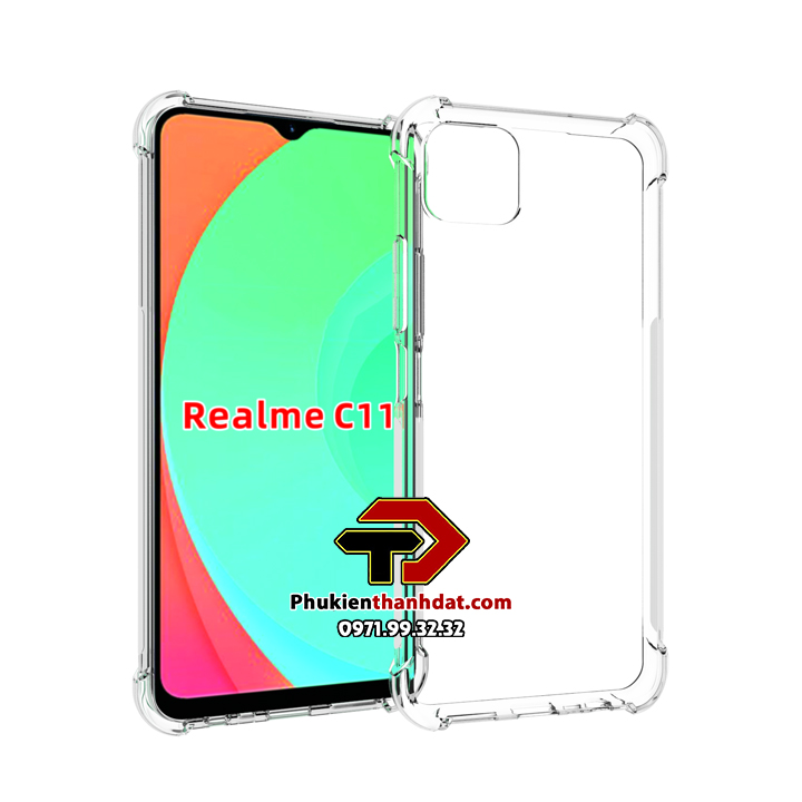 Ốp lưng dẻo trong chống sốc Realme C11
