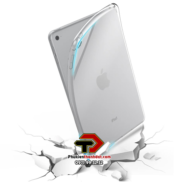 Ốp lưng iPad Mini 4 loại silicon dẻo trong suốt