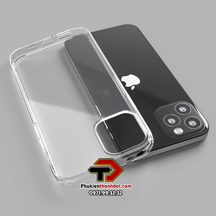 Ốp lưng silicon dẻo trong suốt iPhone 12 Pro Max