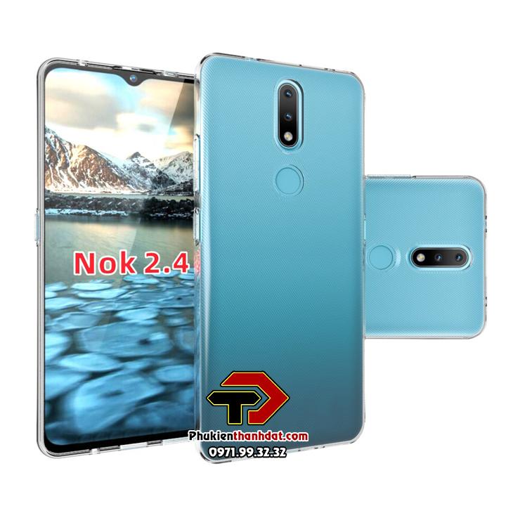 Ốp lưng silicon dẻo trong suốt Nokia 2.4