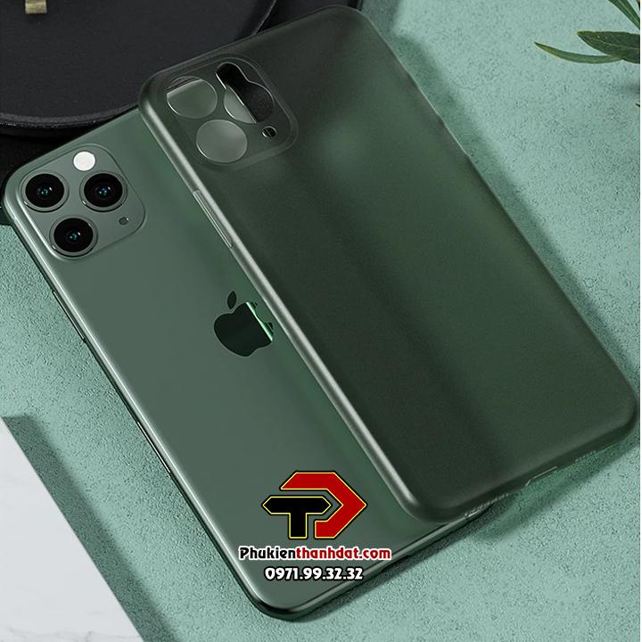 Ốp lưng lụa iPhone 11 Pro siêu mỏng bảo vệ Camera