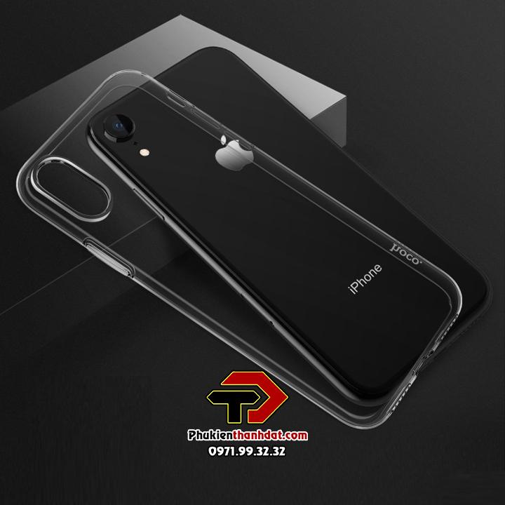 Ốp lưng iPhone XR silicon dẻo trong suốt chính hãng HOCO Light