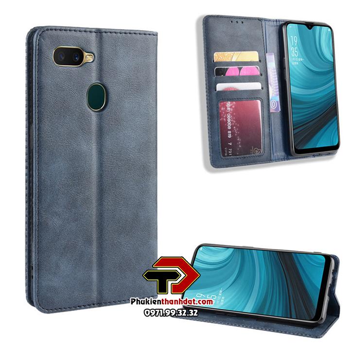 Bao da dạng ví OPPO F9 Wallet Leather Case
