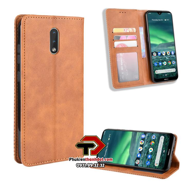 Bao da dạng ví Nokia 2.3 Wallet Leather Case