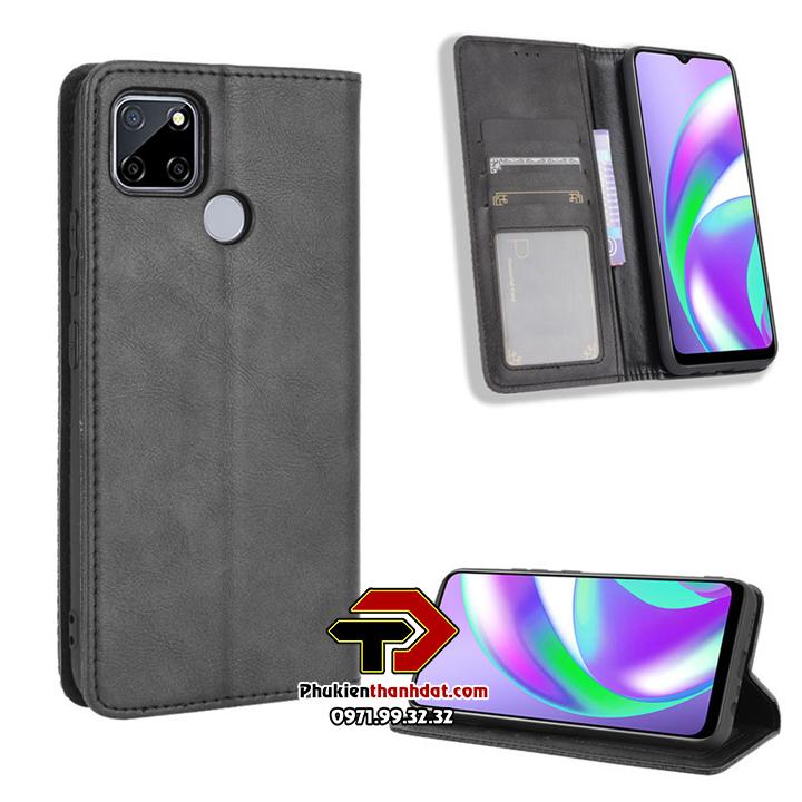 Bao da dạng ví OPPO Realme C12 Wallet Leather Case