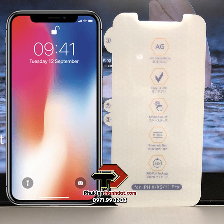 Dán PPF full màn hình chống vân tay iPhone X, XS
