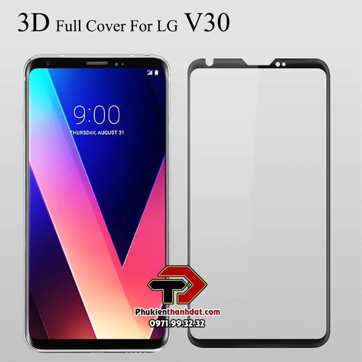 Dán kính cường lực LG V30 full tràn màn hình