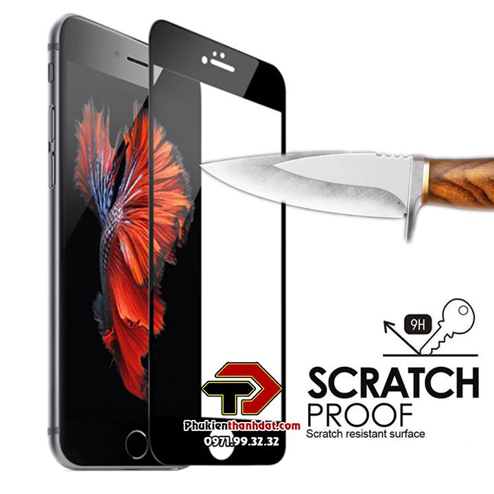 Tấm dán kính cường lực full 21D iPhone 6, 6s tràn màn hình