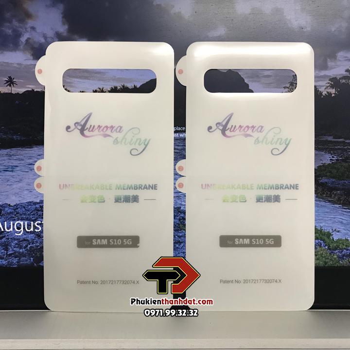 Tấm dán mặt lưng trong suốt PPF SamSung Galaxy S10 5G