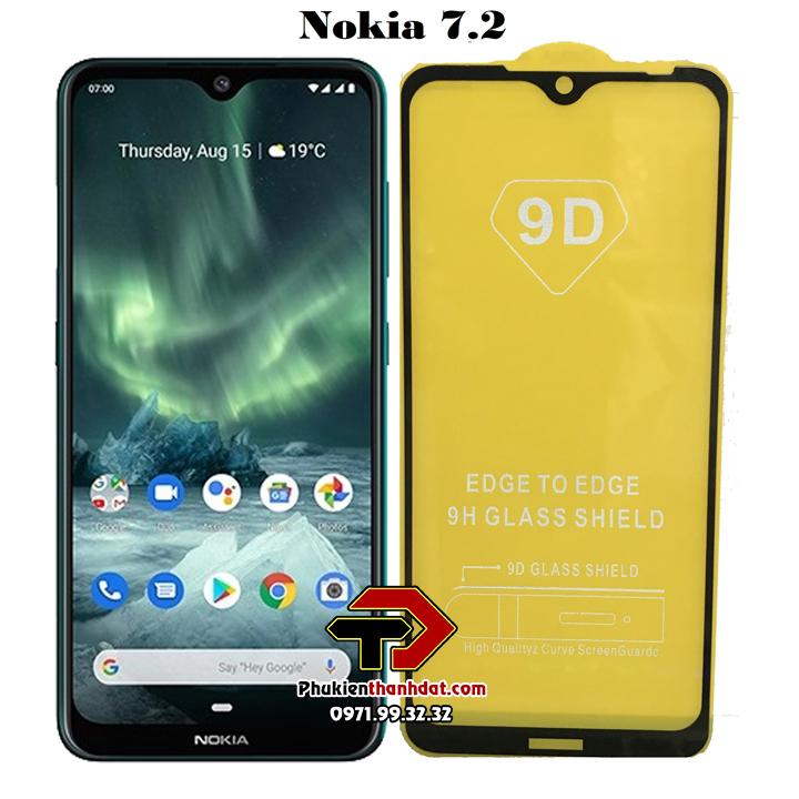 Tấm dán kính cường lực full 9D Nokia 7.2 tràn màn hình