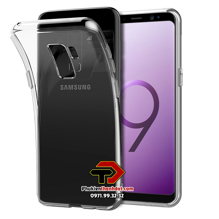 Ốp lưng silicone dẻo trong suốt SamSung Galaxy S9 Plus