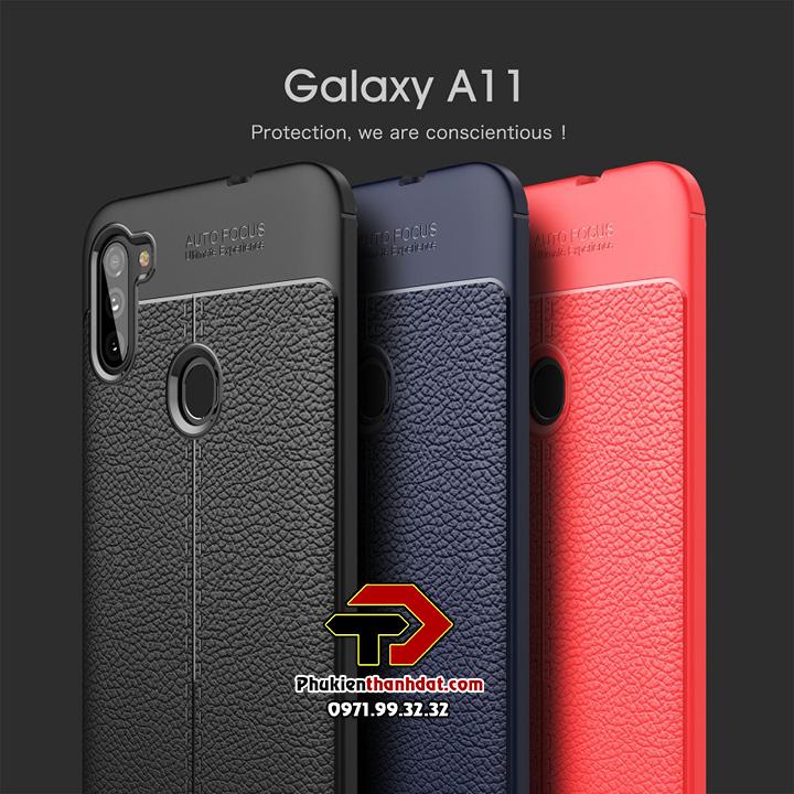 Ốp lưng SamSung Galaxy A11 silicon giả da Auto Focus
