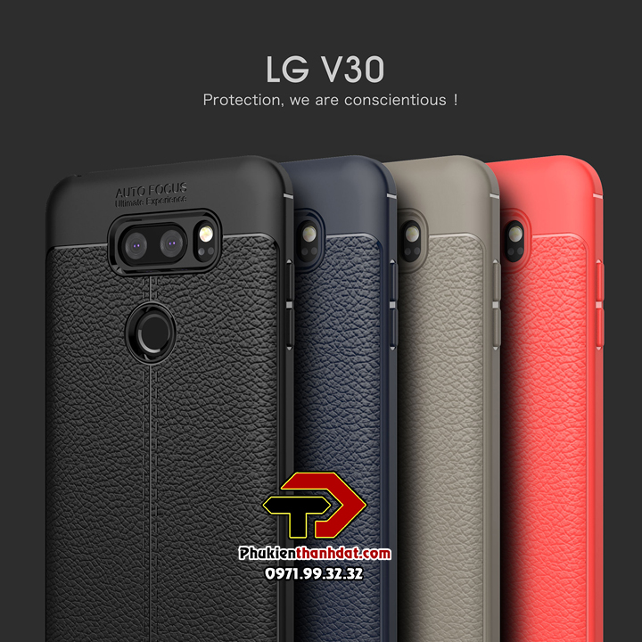 Ốp lưng LG V30 silicon giả da Auto Focus