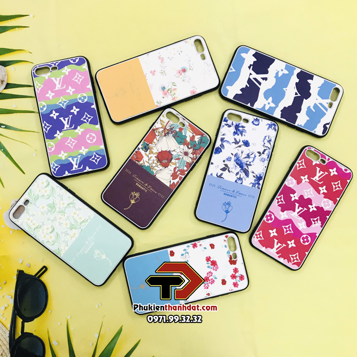 Ốp lưng da iPhone 8 Plus in hình họa tiết