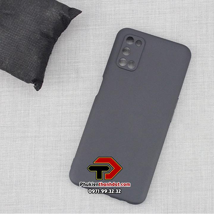Ốp lưng OPPO A52 silicone dẻo màu đen