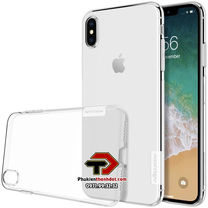 Ốp lưng dẻo trong suốt iPhone X, Xs chính hãng Nillkin Nature