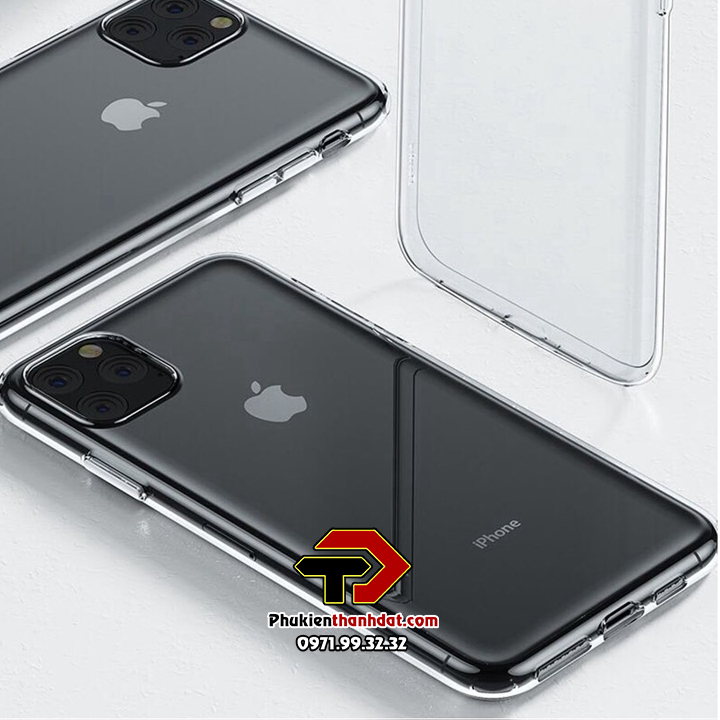 Ốp lưng silicone dẻo trong suốt iPhone 11 Pro