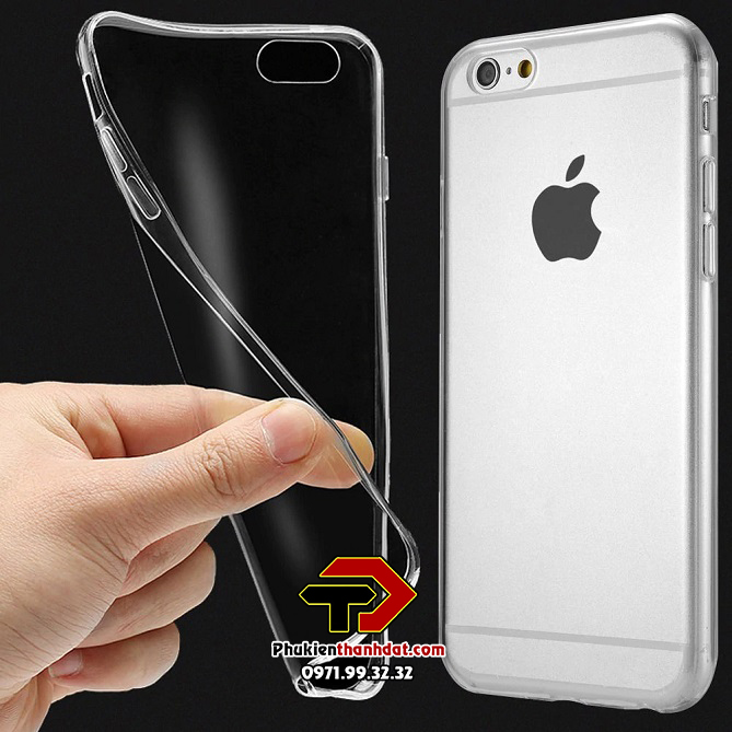 Ốp lưng silicone dẻo trong suốt iPhone 6, 6s