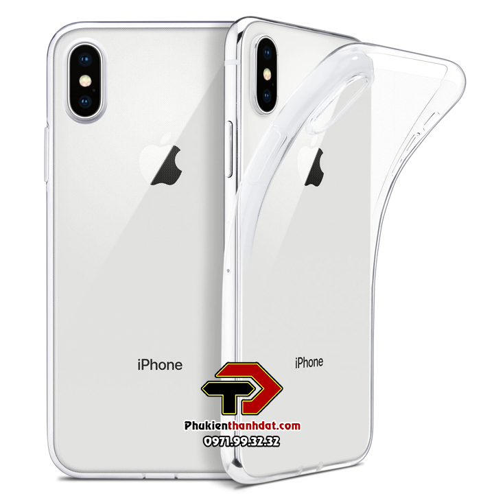 Ốp lưng silicone dẻo trong suốt iPhone Xs Max