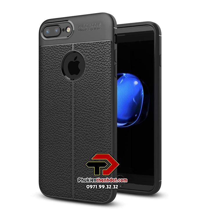 Ốp lưng iPhone 7 Plus silicon giả da Auto Focus