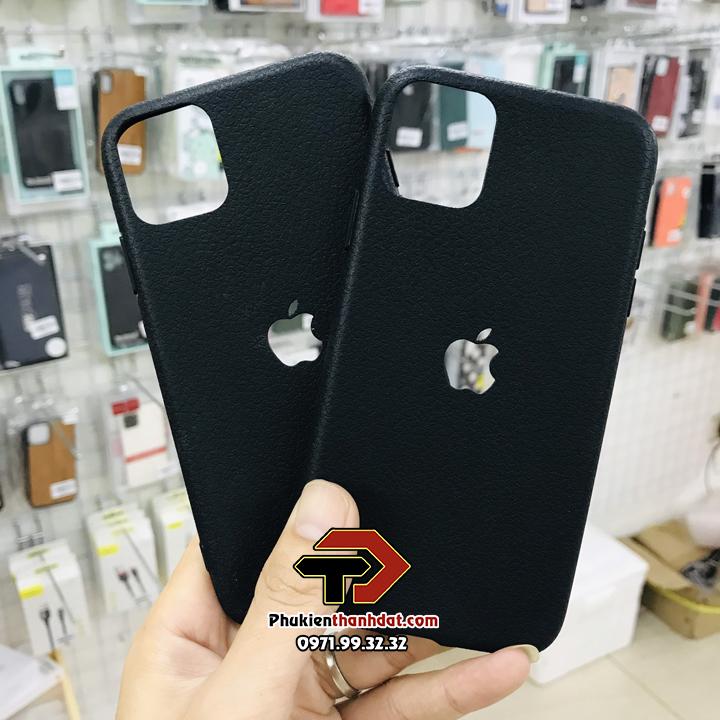 Ốp lưng silicon dẻo giả da iPhone 11