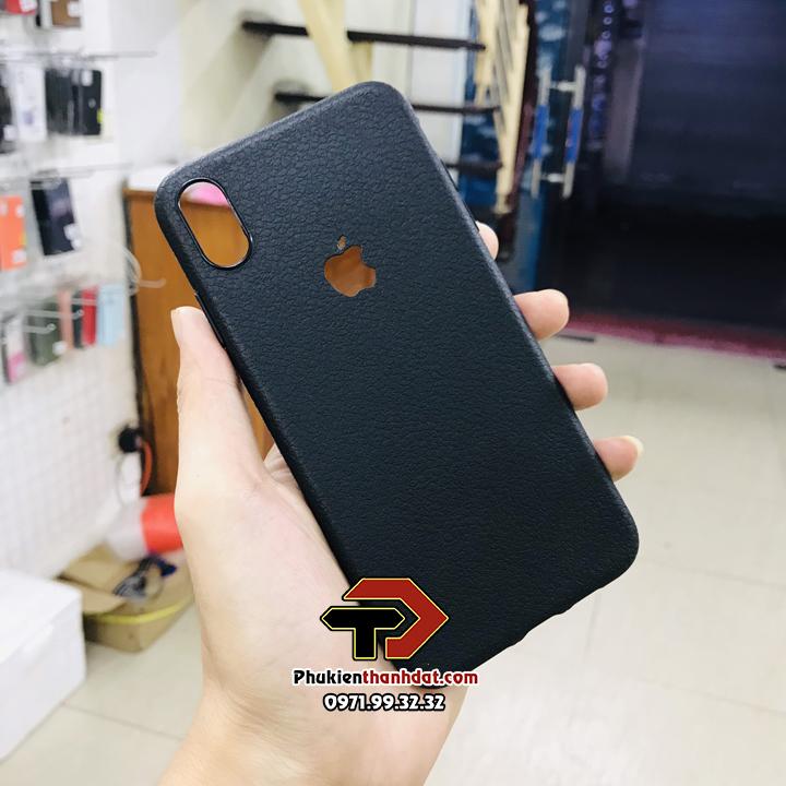 Ốp lưng silicon dẻo giả da iPhone X, Xs