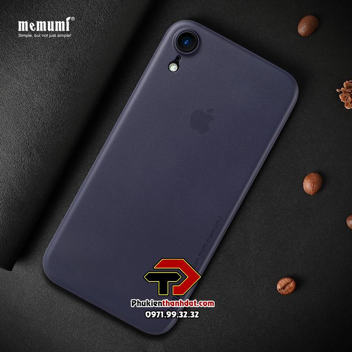 Ốp lưng lụa iPhone XR chính hãng Memumi siêu mỏng 0.3mm bảo vệ Camera