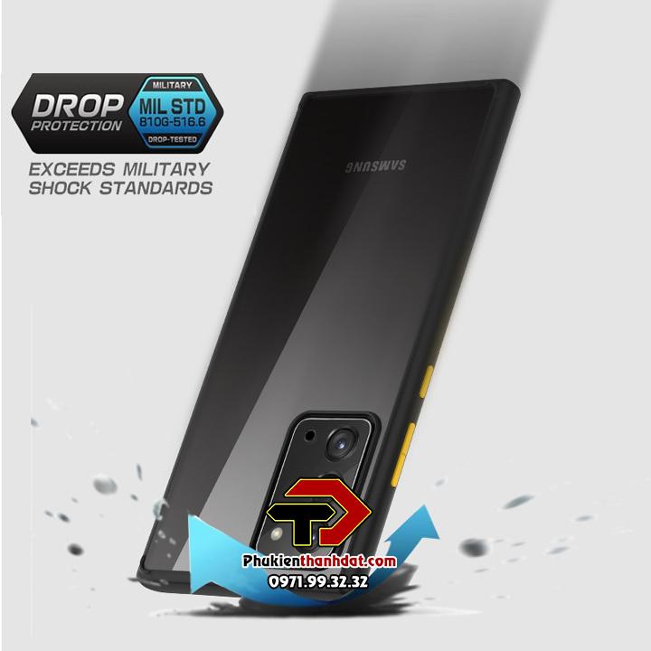 Ốp lưng chống sốc SamSung Galaxy Note 20 trong suốt viền màu TPU chính hãng LIKGUS