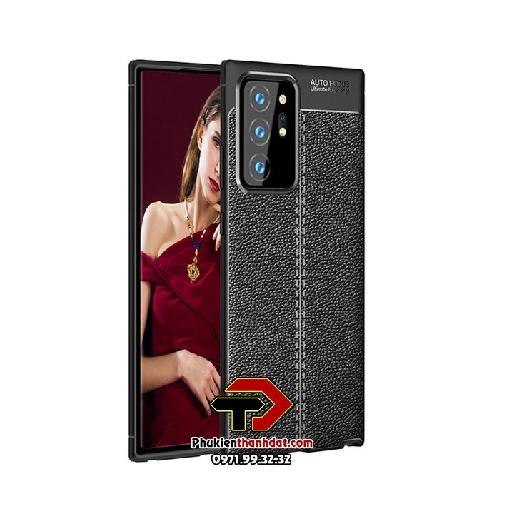 Ốp lưng SamSung Galaxy Note 20 Ultra silicon giả da Auto Focus