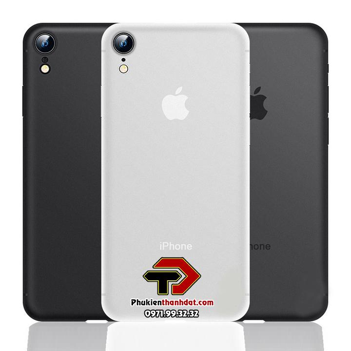 Ốp lưng lụa iPhone XR siêu mỏng bảo vệ Camera