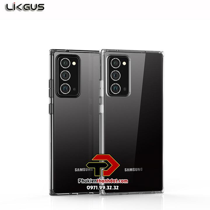Ốp lưng Samsung Galaxy Note 20 chính hãng Likgus trong suốt, chống sốc