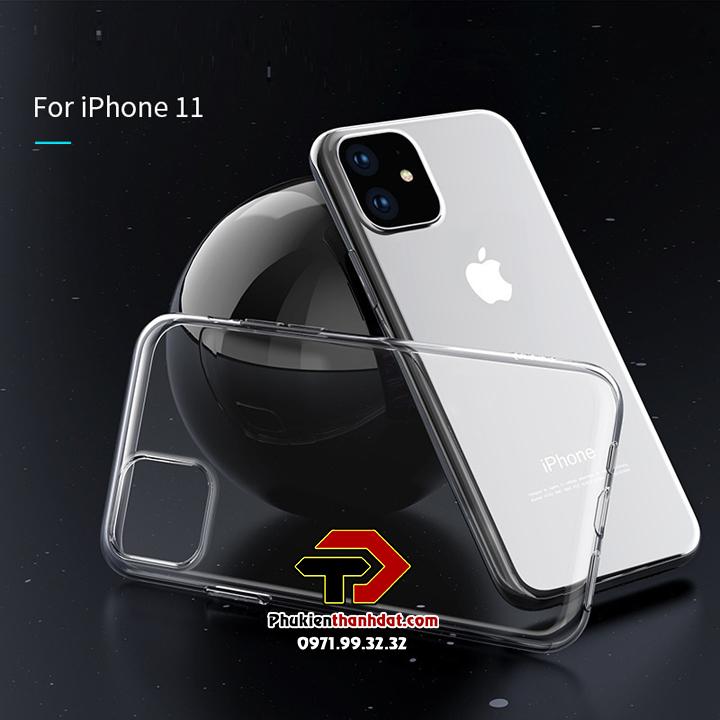 Ốp lưng iPhone 11 silicon dẻo trong suốt chính hãng HOCO Light