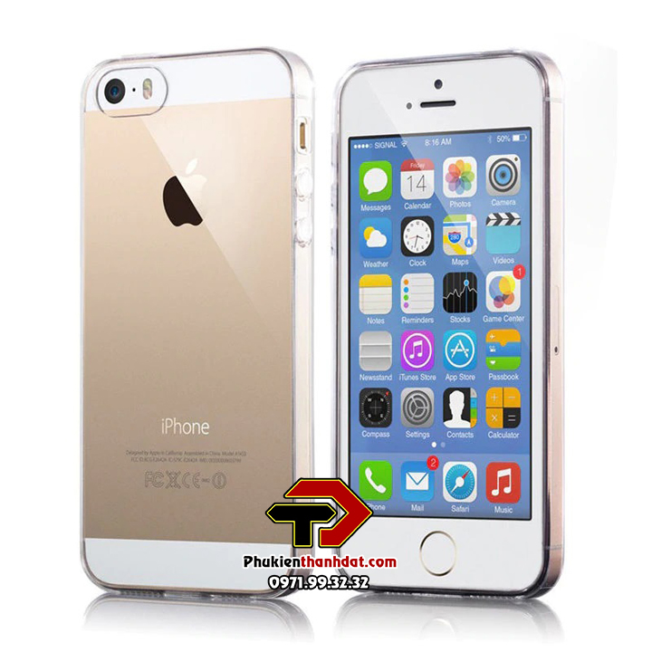 Ốp lưng silicone dẻo trong suốt iPhone 5, 5s, iPhone SE