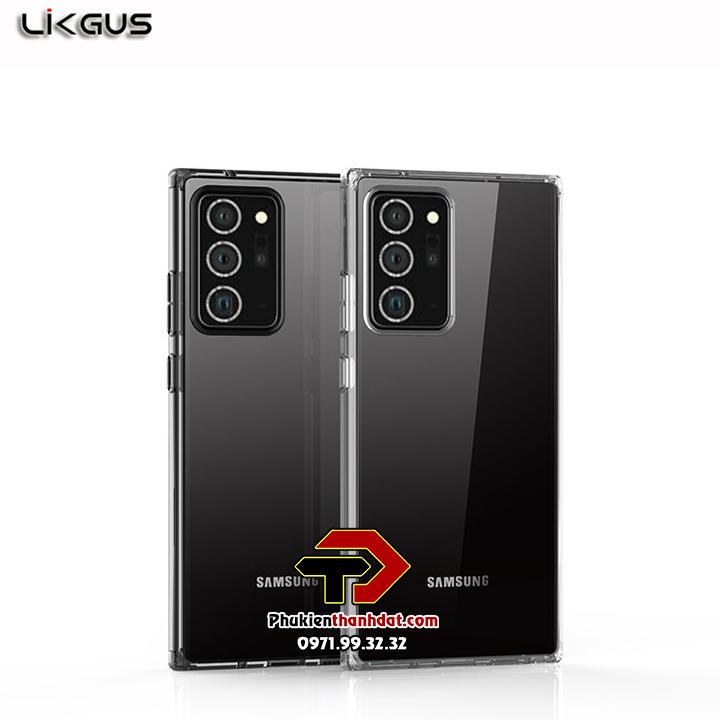 Ốp lưng Samsung Galaxy Note 20 Ultra chính hãng Likgus trong suốt, chống sốc