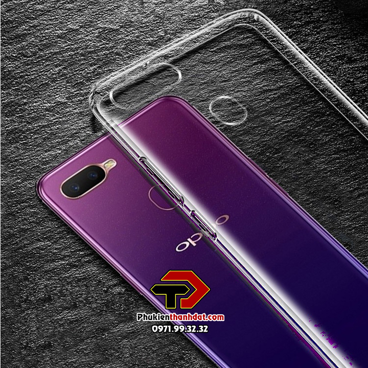 Ốp lưng silicone dẻo trong suốt OPPO F9