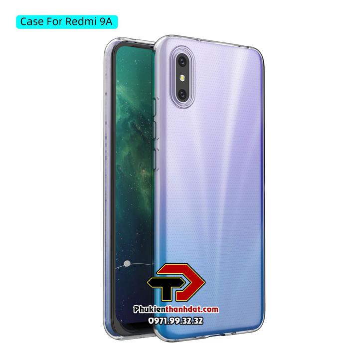 Ốp lưng Xiaomi Redmi 9A silicone dẻo trong suốt