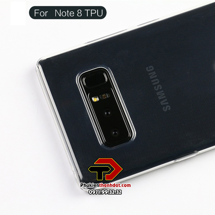 Ốp lưng SamSung Galaxy Note 8 dẻo trong suốt