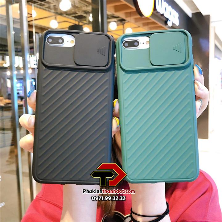 Ốp lưng iPhone 6 Plus, 6s Plus silicone nắp trượt bảo vệ Camera