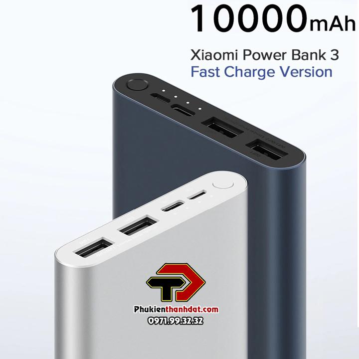 Pin sạc dự phòng Xiaomi Gen 3 2019 10.000mAh sạc nhanh chính hãng