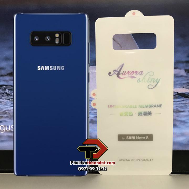 Tấm dán PPF mặt lưng SamSung Galaxy Note 8 trong suốt